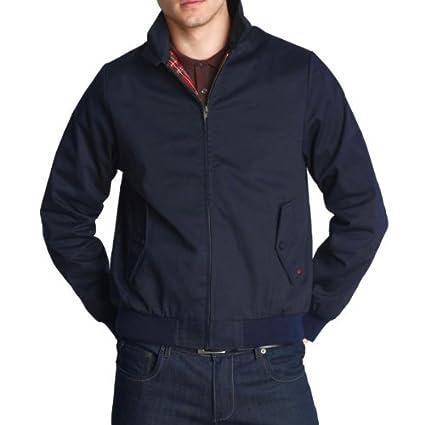 Merc of London Harrington - Chaqueta de manga larga para hombre, color azul marino, talla m: Amazon.es: Ropa y accesorios