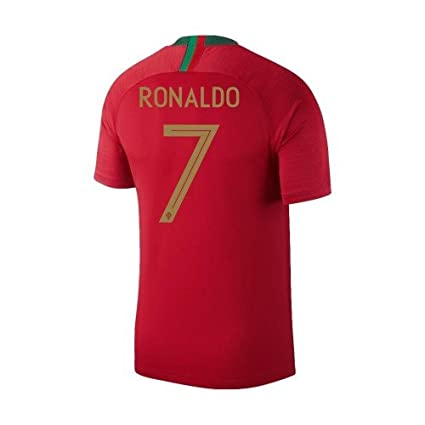 Image Unavailable. Image not available for. Color  Nike 2018 Portugal Youth Home  Jersey Ronaldo ... 7972ba9d1