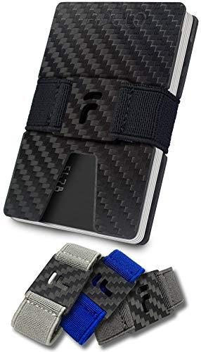 - FIDELO Carbon Fiber Minimalist Wallet - Slim RFID Credit Card Holder Money Clip for Men