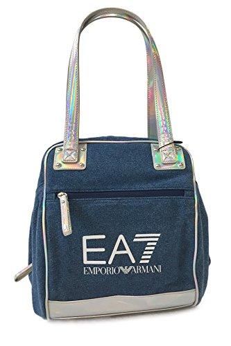 Emporio Armani EA7 bolso de mano para compras tote mujer nuevo indigo holdall bl