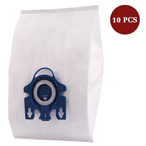 I-clean 10 Packs Miele AirClean 3D Efficiency Dust Bags,Type GN, 10123210 GN Vacuum Bags, With 2 motor protection filter, 2 AirClean Filter