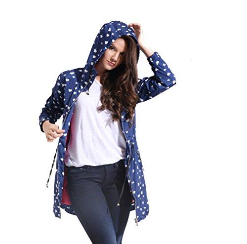 Charcoal Fashion - Manteau imperméable - Parka - Femme