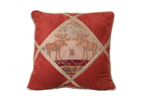 HiEnd Accents Diamond Moose Shape Pillow
