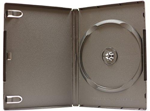 New 100 Pk 14mm DVD Case Single Black Premium 1 Disc Box Holder Standard Size Machinable MegaDisc ()