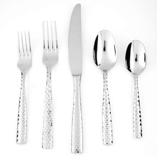 Fortessa Lucca Faceted 18/10 Stainless Steel Flatware Espresso Spoon, Set of 12 by Fortessa (Image #4)