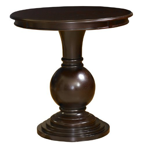- Powell 809-350 Espresso Round Accent Table,