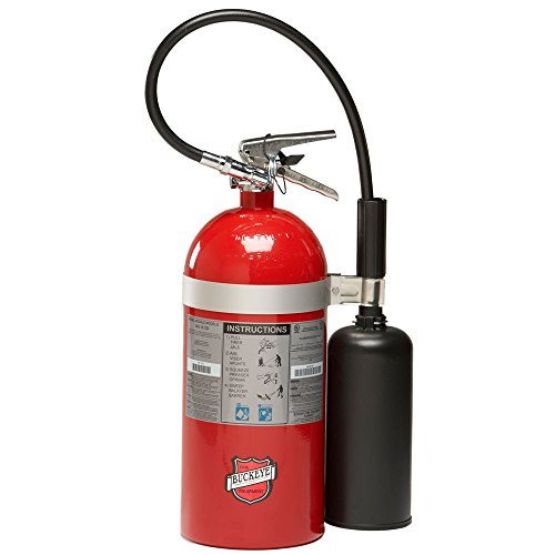 (Buckeye 45600 Carbon Dioxide Hand Held Fire Extinguisher with Wall Hook, 10 lbs Agent Capacity, 6-7/8