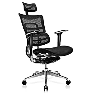 tomcare office chair ergonomic mesh office chair with adjustable lumbar support. Black Bedroom Furniture Sets. Home Design Ideas