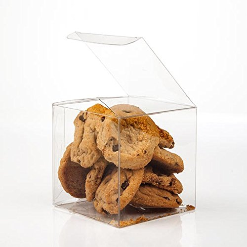 "ClearBags 3"" x 3"" x 3"" Clear Holiday Gift Boxes 