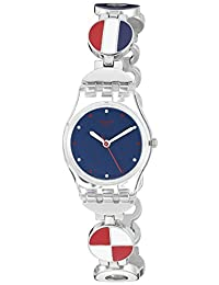 Swatch Women's 'Marinette' Quartz Plastic and Stainless Steel Automatic Watch, Multi Color (Model: LK344G)