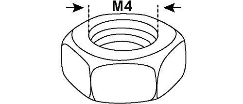 CONNEX KL4220004 934 M4 Galvanised Hexagonal Nuts