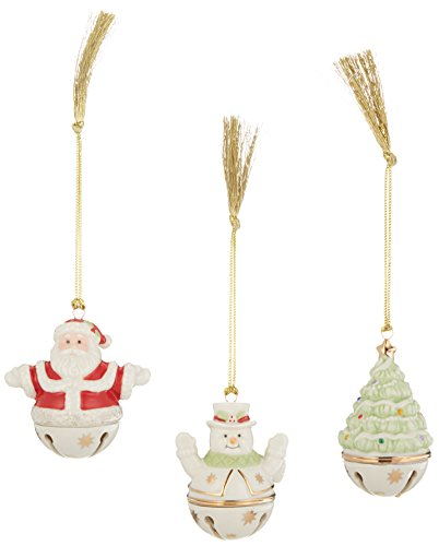 Lenox Figural Sleigh Bells Ornaments, Set of 3 (Bell Figural)