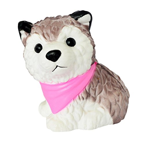 Scarf Spinner - Roysberry - Jumbo Slow Rising Cream Scarf Huskies, Cute Stress Relief Toys Ball Super Soft Kawaii Scented Decoration Toys Stress Ball for Adults Jumbo Fruit Eggs 3D Puzzle Toys for Kids(Random)