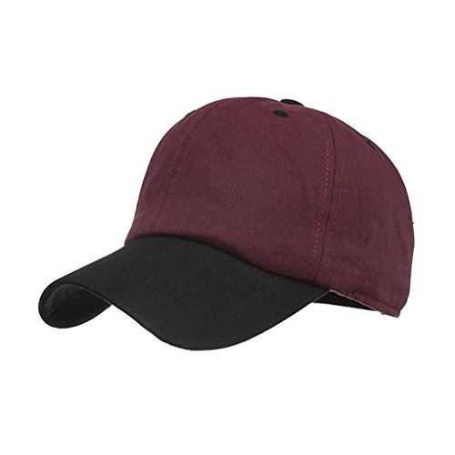 Fashion Women Men Adjustable Colorblock Baseball Cap Hat Cap by WOCACHI