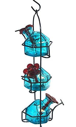 Lunchpail 3 Hummingbird Feeder Aqua