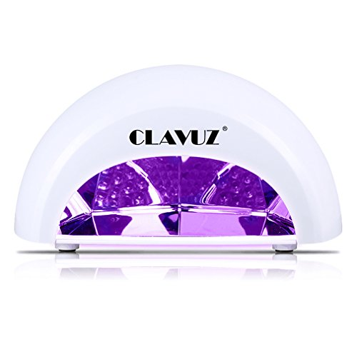 CLAVUZ 12W LED Gel Nail Lamp Nail Dryer Lamp Curing Light Portable for LED Gel Nail Polishes Manicure