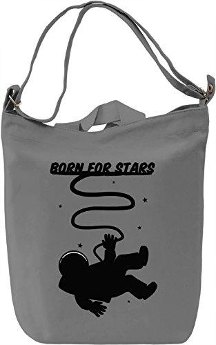 Born 4 stars Borsa Giornaliera Canvas Canvas Day Bag| 100% Premium Cotton Canvas| DTG Printing|
