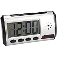 TOOGOO(R) HD Video DVR Digital Alarm Clock Nanny Camera Recorder Motion Detector DV Black & Silver