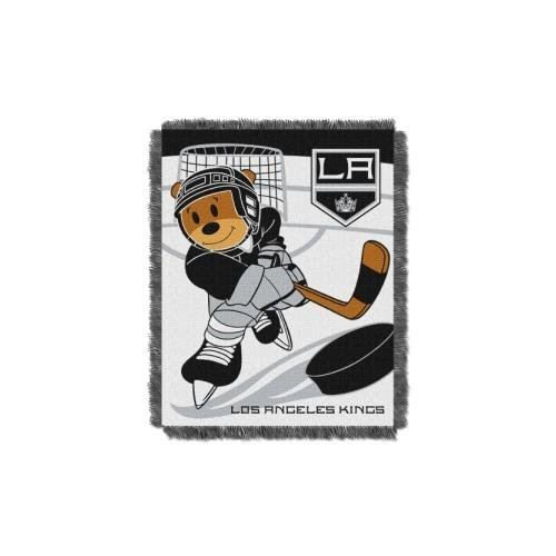 "The Northwest Company Officially Licensed NHL Los Angeles Kings Score Woven Jacquard Baby Throw Blanket, 36"" x 46"""