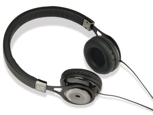 Scosche rh656md Realm On - Ear Headphones with tapLINE III - Retail Packaging - Black by Scosche