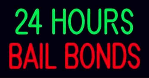 Mirsne neon signs, glass tube neon lights, 24'' by 20'' inch 24 Hours Bail Bonds neon signs bar, the best neon sign custom supplied for a wide range of personal uses. by Mirsne