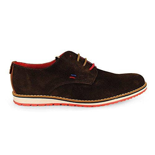 Wisconsin , Chaussures de ville à lacets pour homme Rouge Marron