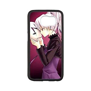 Samsung Galaxy S6 Cell Phone Case White Darker than Black 004 F8217424