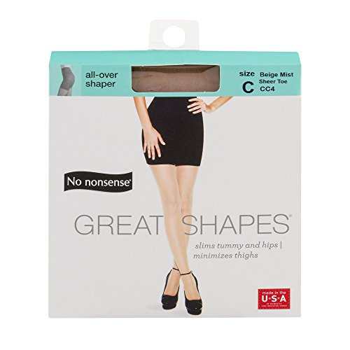 Shaping Mist (No Nonsense Great Shapes Body-Shaping Pantyhose, Beige Mist Sheer Toe, Size C)