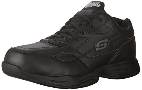 Skechers for Work Men's Felton Shoe,black,11 Extra Wide US (Best Boots For Standing On Concrete All Day)