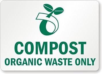 Compost orgánico residuos sólo (con símbolo de Compost), plástico (reciclado y compostable