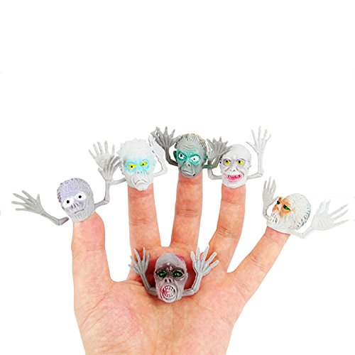 Kangkang@ 6 PCS Interesting Scary Ghost Style Finger Puppet Set Party Favors Toy Children's Playing Story Time Halloween Decoration]()