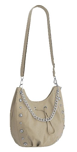Studded Chain Womens Vespa Faux Mushroom Shoulder EyeCatch Bag Leather 4AZfx5nwq