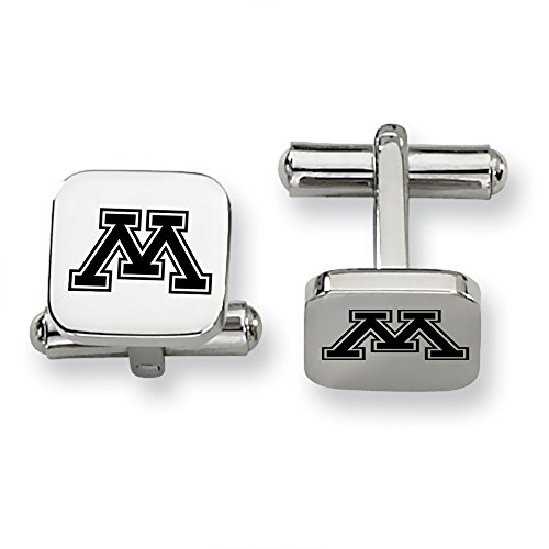 Minnesota Golden Gophers Stainless Steel Square Cufflinks Minnesota Golden Gophers Cufflinks