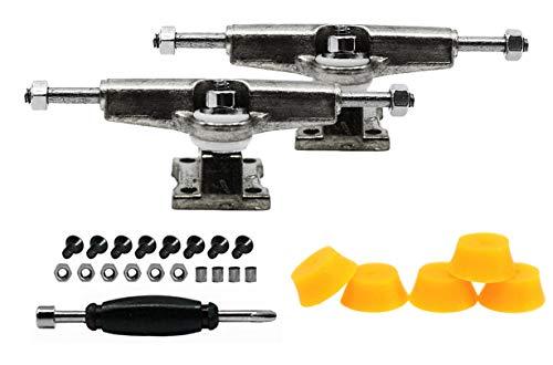 티크 조정 지판 스페이서 트럭 크롬 은을 포함하의 설정 5 주황색 빛 거품 부싱-32MM 폭-조&립