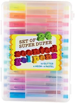 Llegadas internacionales Super Duper Scented Gel Pen (Pack de 24): Accessory: Amazon.es: Oficina y papelería