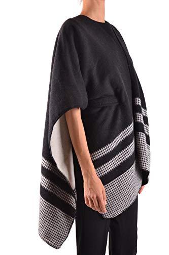 Poncho Lana Woolrich Wwacc1399ac011514 nero Bianco Donna zZxqC