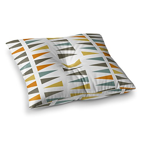 KESS InHouse Pellerina Design Stacked Geo White Triangles Square Floor Pillow x 23