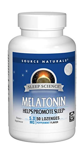 Source Naturals Sleep Science Melatonin 5mg Sleep Support Peppermint Flavor - 50 Lozenges ()