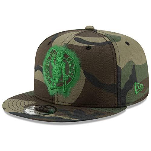 New Era Boston Celtics 9FIFTY Overspray Snapback Cap NBA, Hat Camo