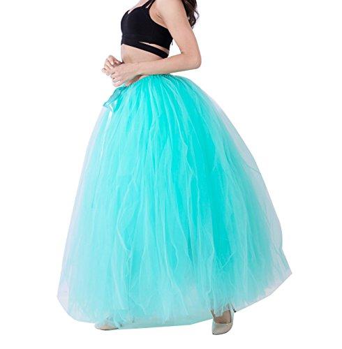 Skirt Principessa tulle Bubble lunghe Verde Sottogonna Mint gonne Puffy Petticoat Balletto Donna Tutu zwqO4gWBac