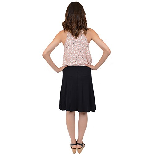 Stretch is Comfort Women's A-Line Skirt Black Large by Stretch is Comfort (Image #3)