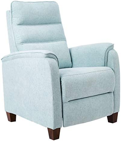 JC Home Arm Push recliner, one size, Sky blue