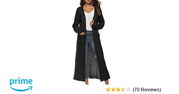 Long Cardigan Sweaters for Women with Pockets Side Split Light Weight Knit  Cardigan S - 3XL at Amazon Women s Clothing store  21421553c274
