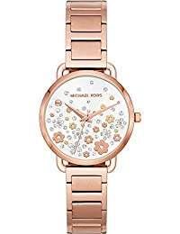 Womens Portia Quartz Stainless Steel Casual Watch, Color:Rose Gold-Toned · Michael Kors