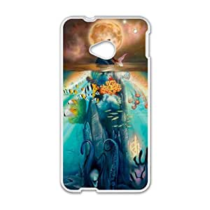 Under Sea World Little Mermaid White HTC M8 case