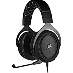 Corsair HS60 PRO Surround Gaming Headset (7.1 Surround Sound, Adjustable Memory Foam Ear Cups, Noise-Cancelling…