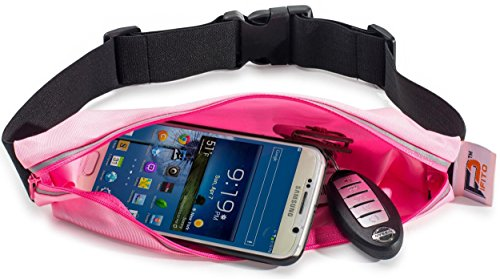 Running Belt Waist Pack by Pifito (TM) - Outdoor Pouch Bag for Sports, Hiking, Exercise, Walking, Fitness, Jogging or Gym Workout - Durable Fanny Pack Fits all Phones (Pink)