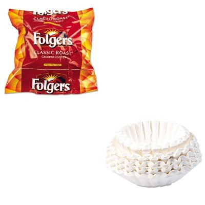 KITBUN1M5002FOL06114 - Value Kit - Bunn Coffee Commercial Coffee Filters (BUN1M5002) and Folgers Regular Coffee Filter Pack, .9 Ounce (FOL06114)