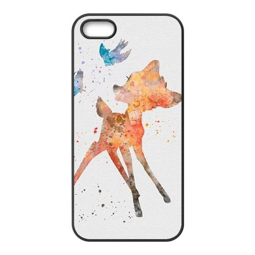 Bambi coque iPhone 5 5S Housse téléphone Noir de couverture de cas coque EBDOBCKCO10867