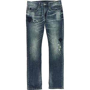 Buffalo David Bitton Mens Six-x Denim Sandblasted Straight Leg Jeans